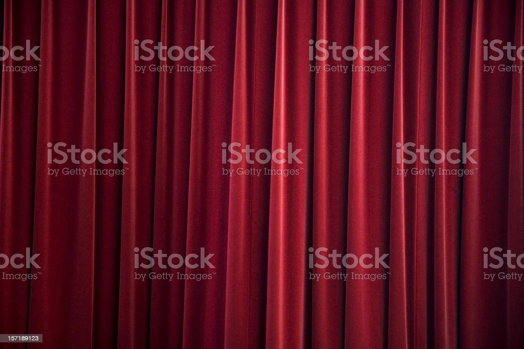red velvet curtain royalty-free stock photo