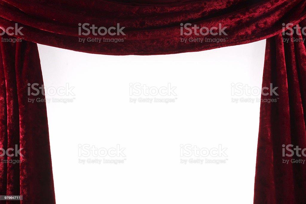 Red Velvet Theater courtains royalty free stockfoto