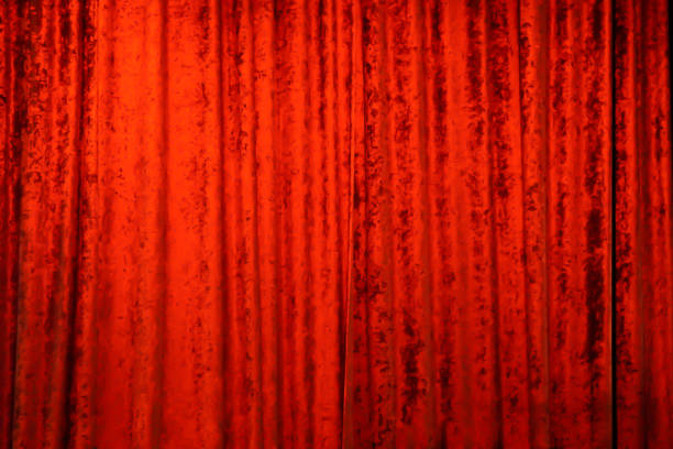 A Red Velvet Theater Curtain stock photo