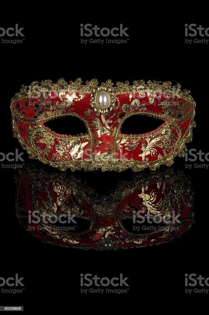 Red Venetian Carnival Mask royalty-free stock photo