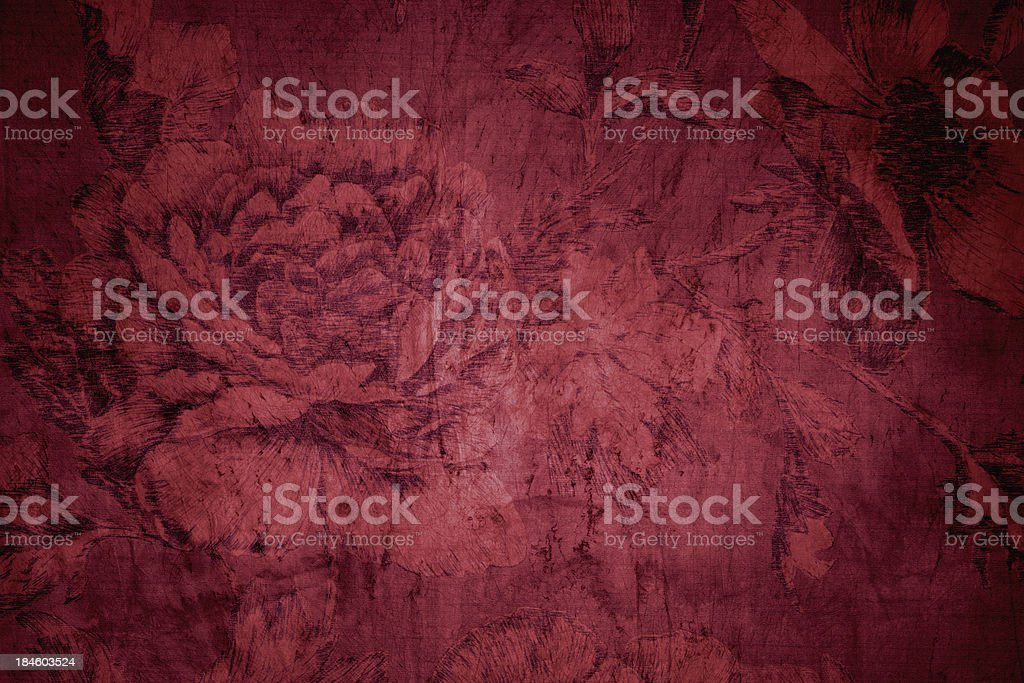 Red Victorian Background stock photo