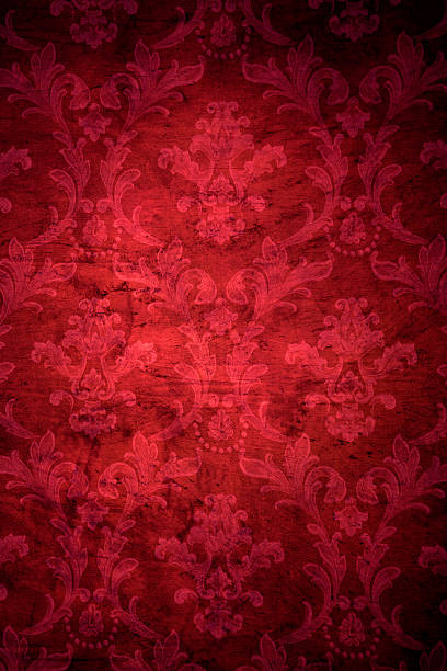 Red Victorian Grunge Background stock photo