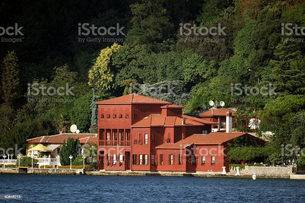 red villa royalty-free stock photo