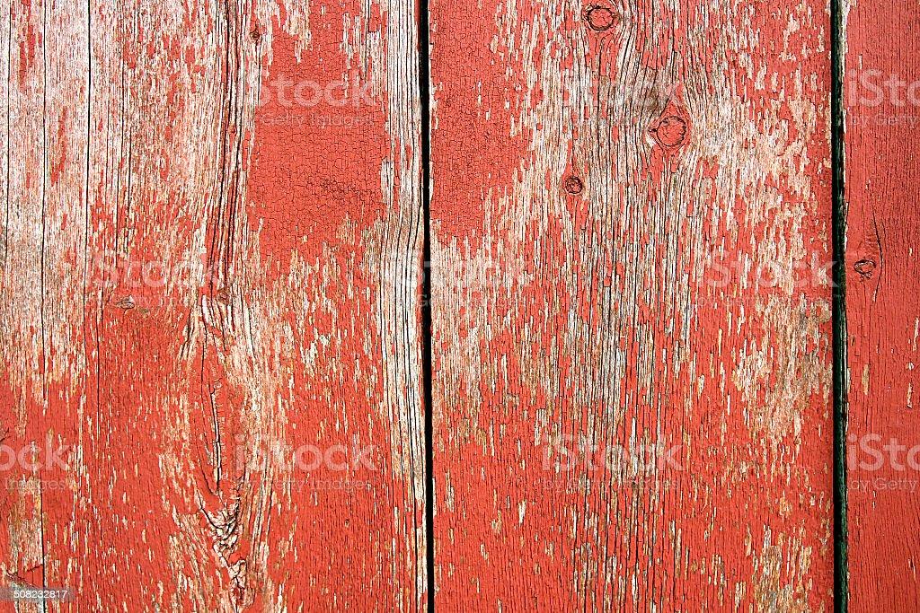 Red Vintage Barnwood Background stock photo