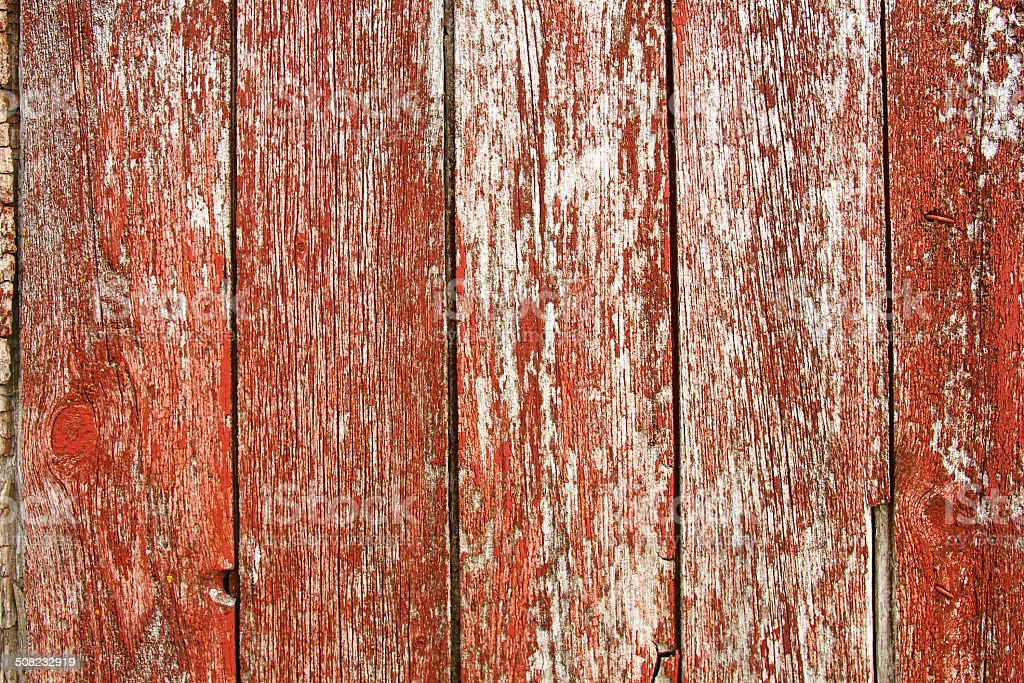 Red Vintage Barnwood Background stock photo