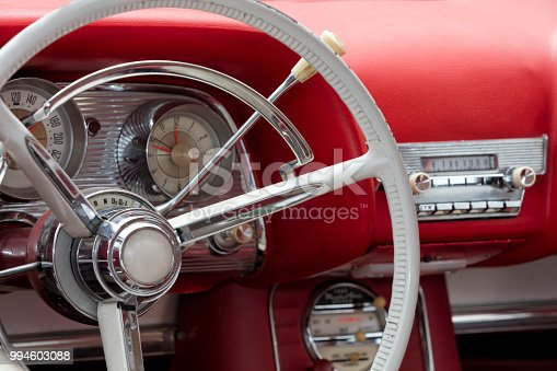 467735055istockphoto Red Vintage Car Interior 994603088