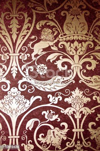 184875559istockphoto Red Vintage Old Wallpaper 110919434