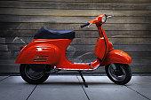 Red vintage oldtimer scooter