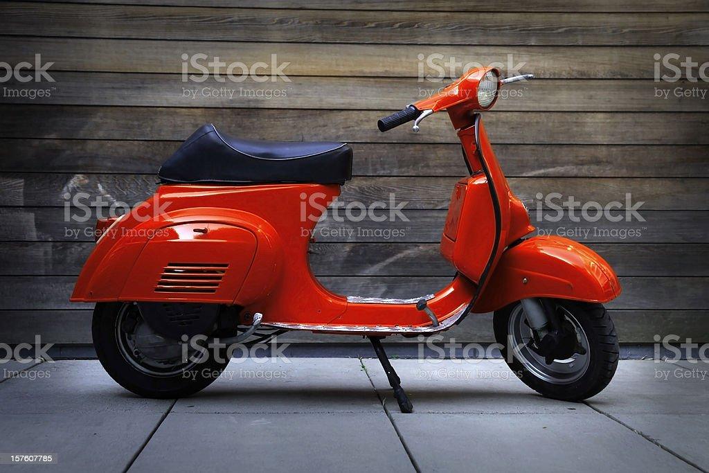 Red vintage oldtimer scooter stock photo