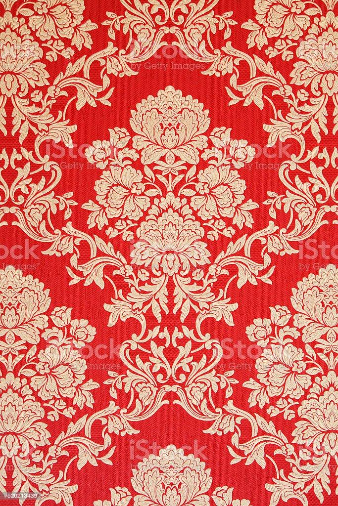 Rouge De Design Vintage De Papier Peint Baroque Decorations En Or
