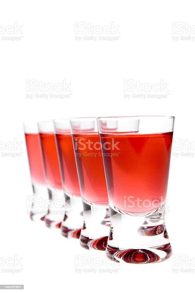 red vodka royalty-free stock photo