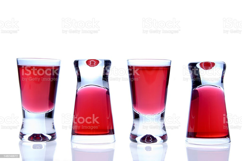Red vodka trick royalty-free stock photo