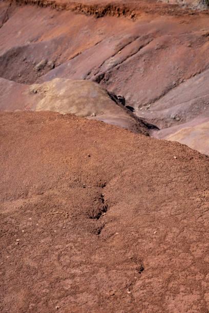 Red Volcanic Dirt of Kauai stock photo