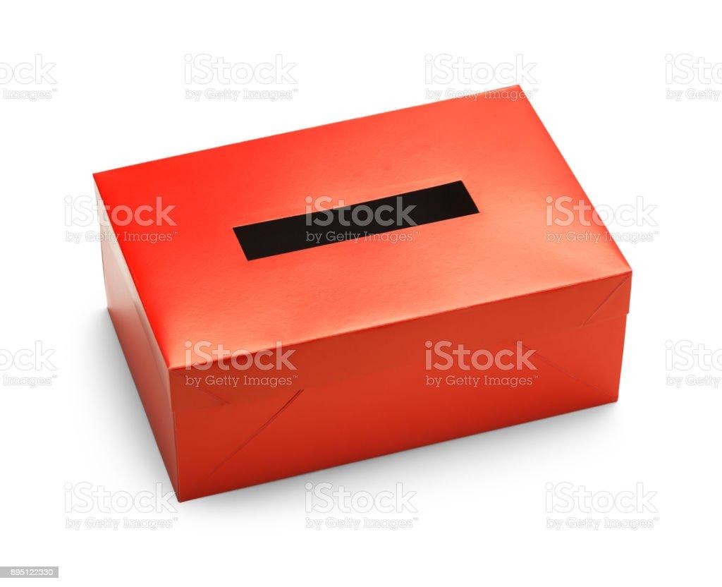 Red Vote Box stock photo
