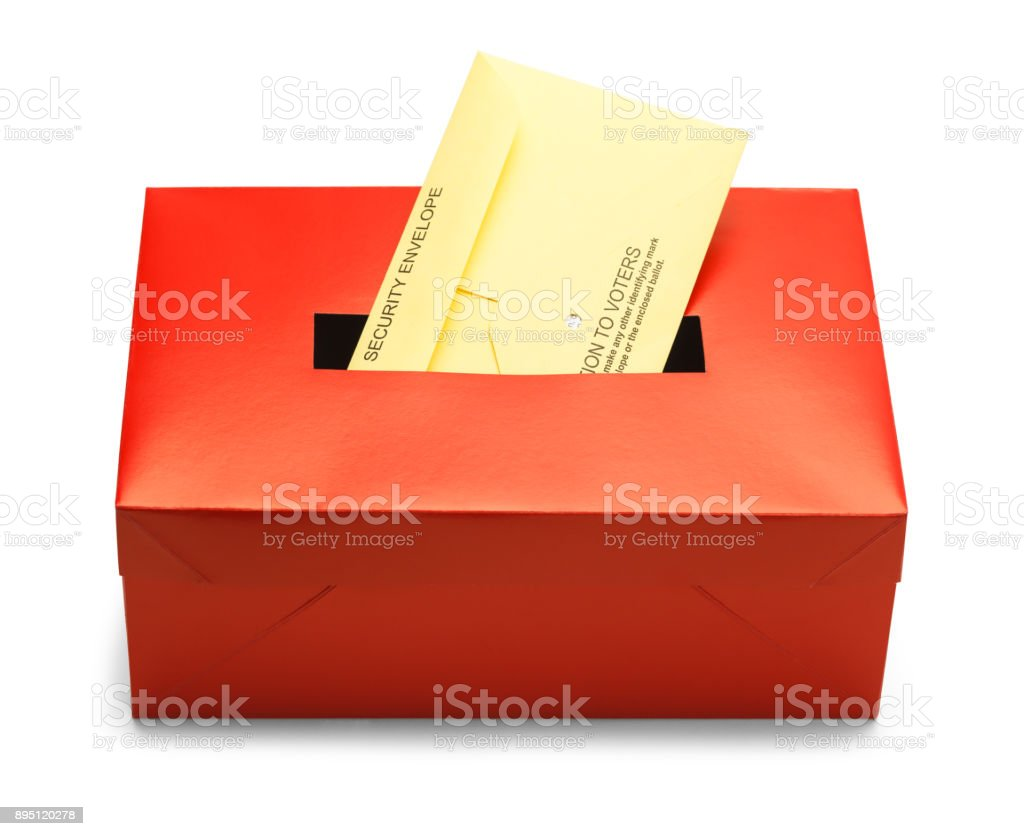 Red Voting Box stock photo