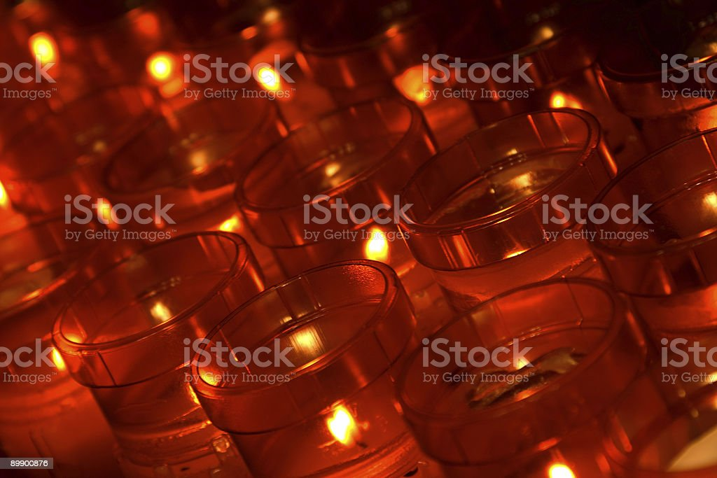Red Votive Candles royalty-free stock photo