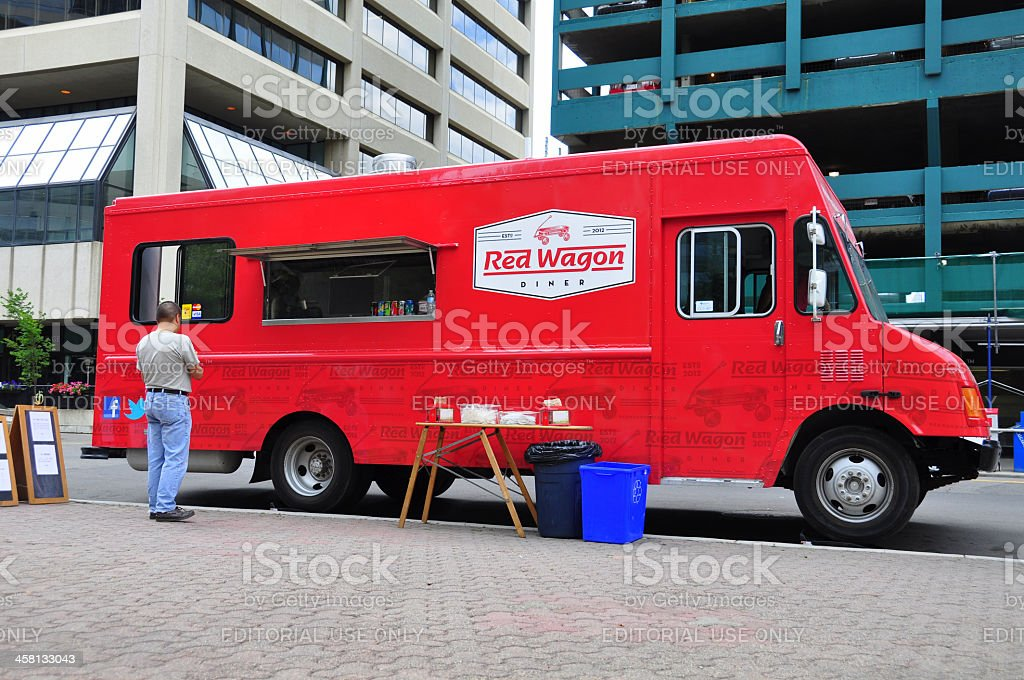 Red Wagon Diner Furgone ambulante - foto stock
