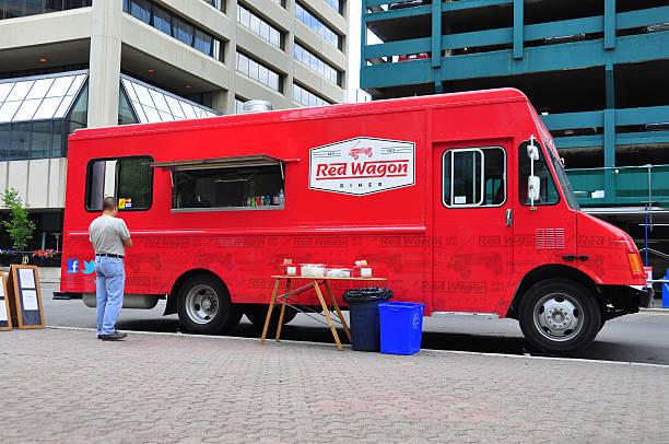 Red Wagon Diner Furgone ambulante - foto stock