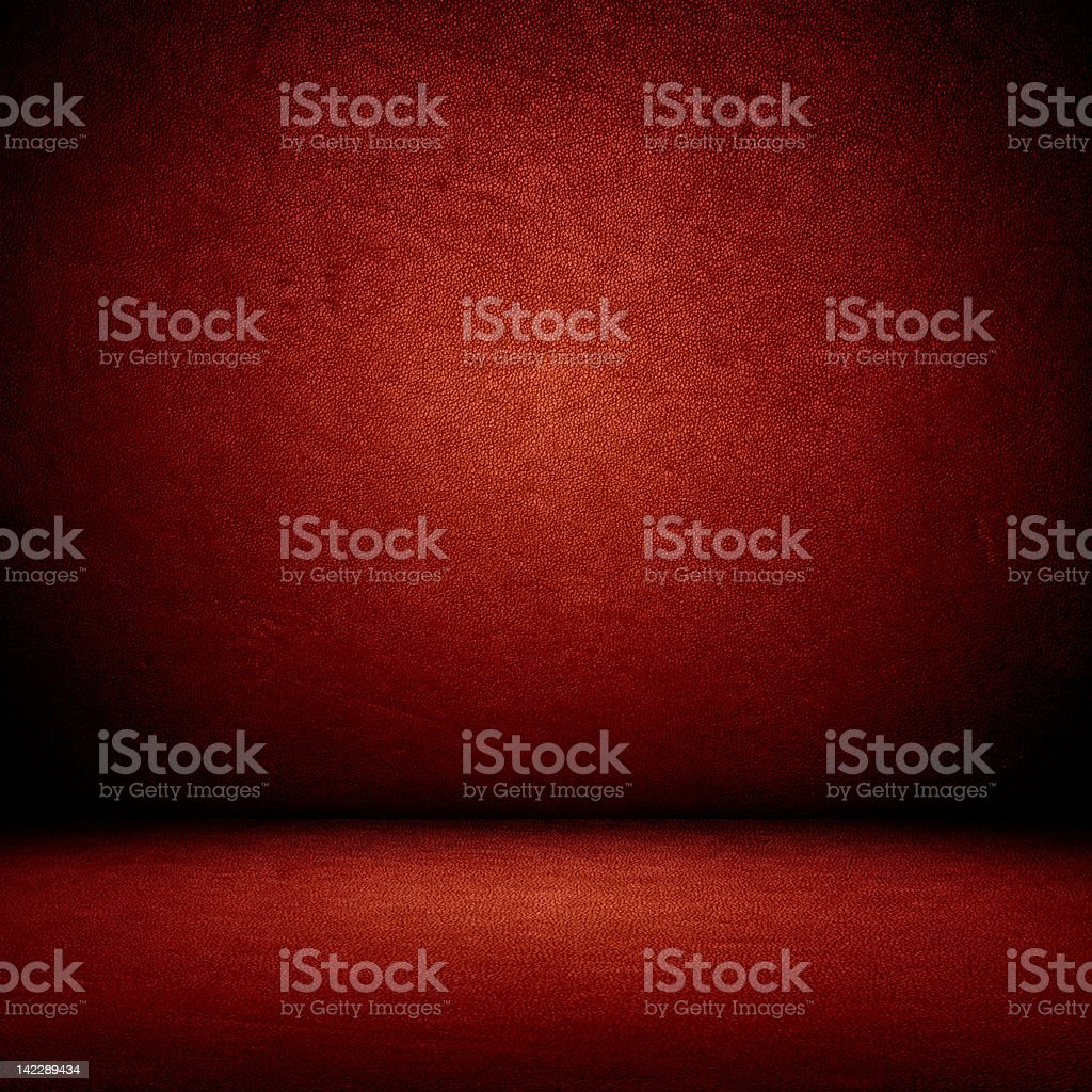 Rojo de pared y de piso interior - foto de stock