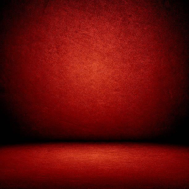 Rojo de pared y de piso interior - foto de stock