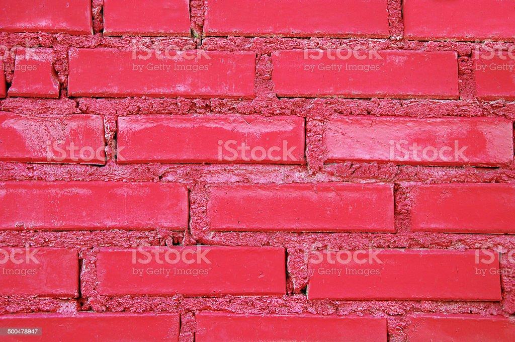 Rote Wand aus clinker – Foto