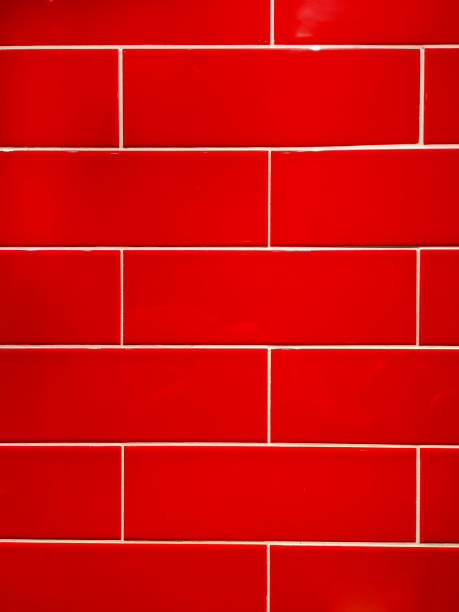 Red Wall Tiles stock photo