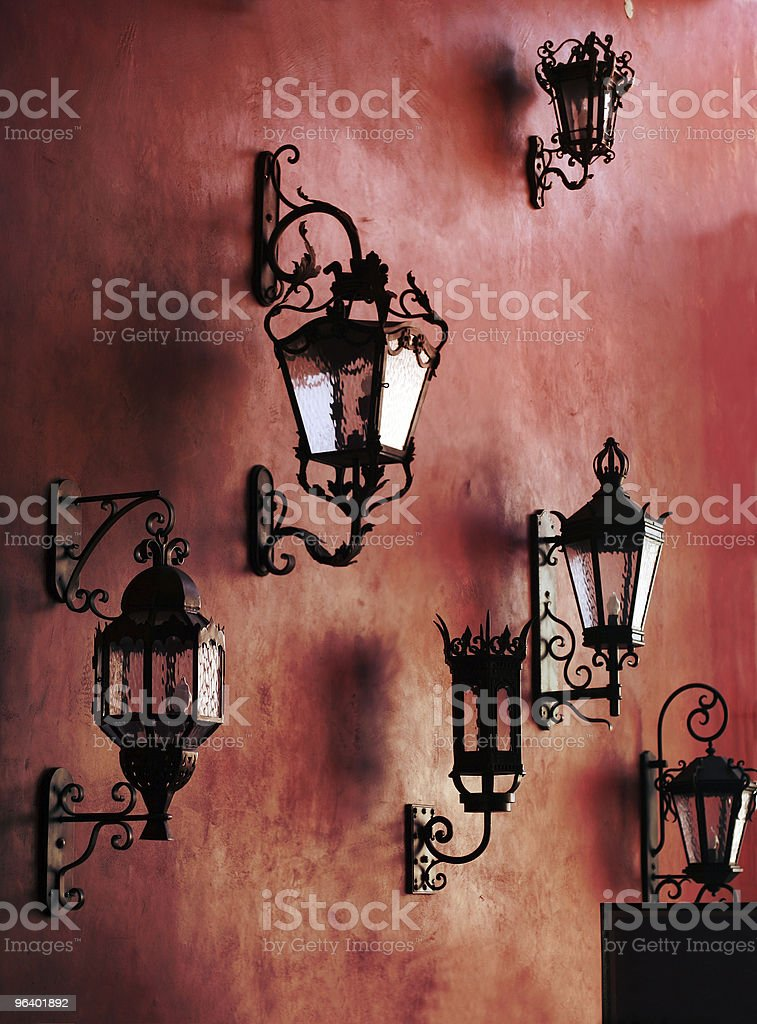 Red wall with lamps - Royalty-free Abstract Stock Photo