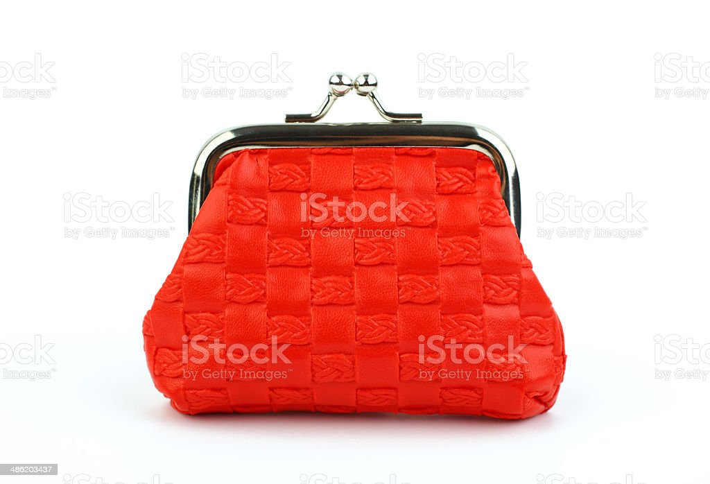 Red Wallet stock photo