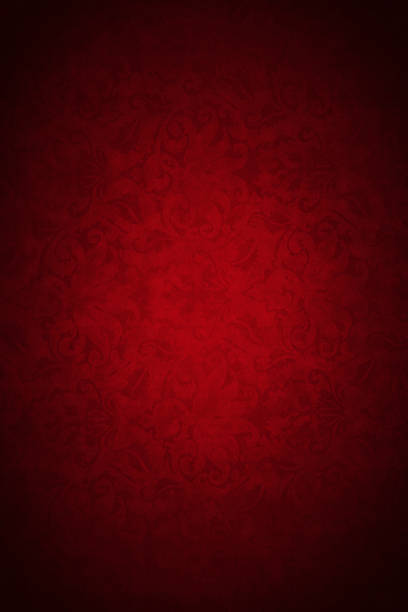 red wallpaper - victorian style stock photos and pictures
