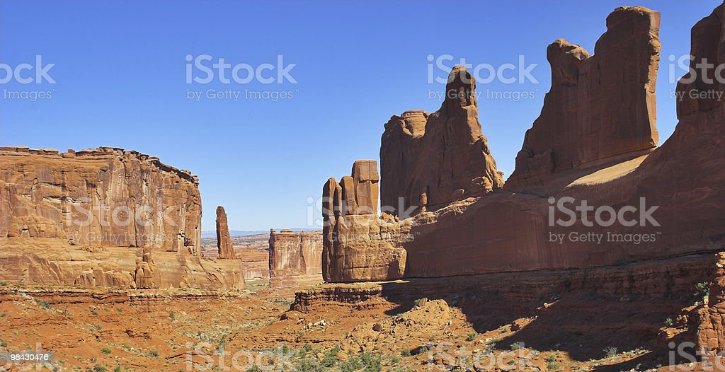 Red walls in desert royalty-free stock photo