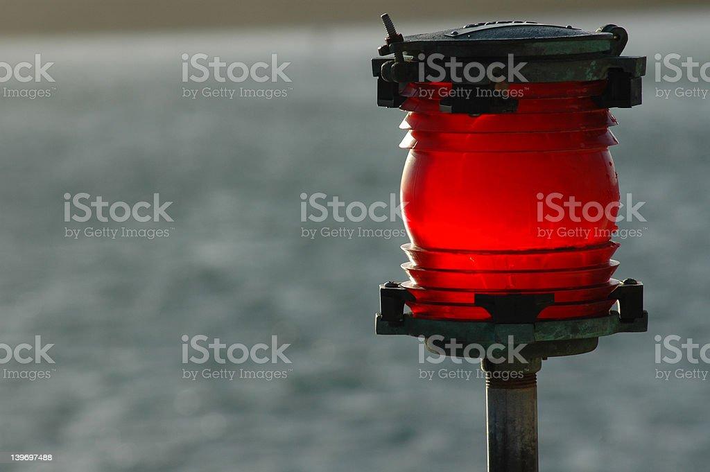 Red Warning Beacon royalty-free stock photo