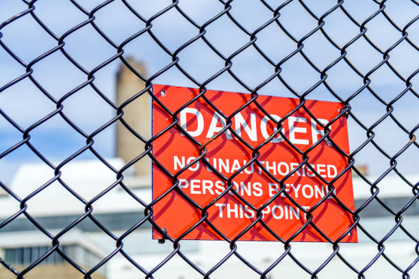 Red Warning Sign Notice Keep Out Stock Photo - Download