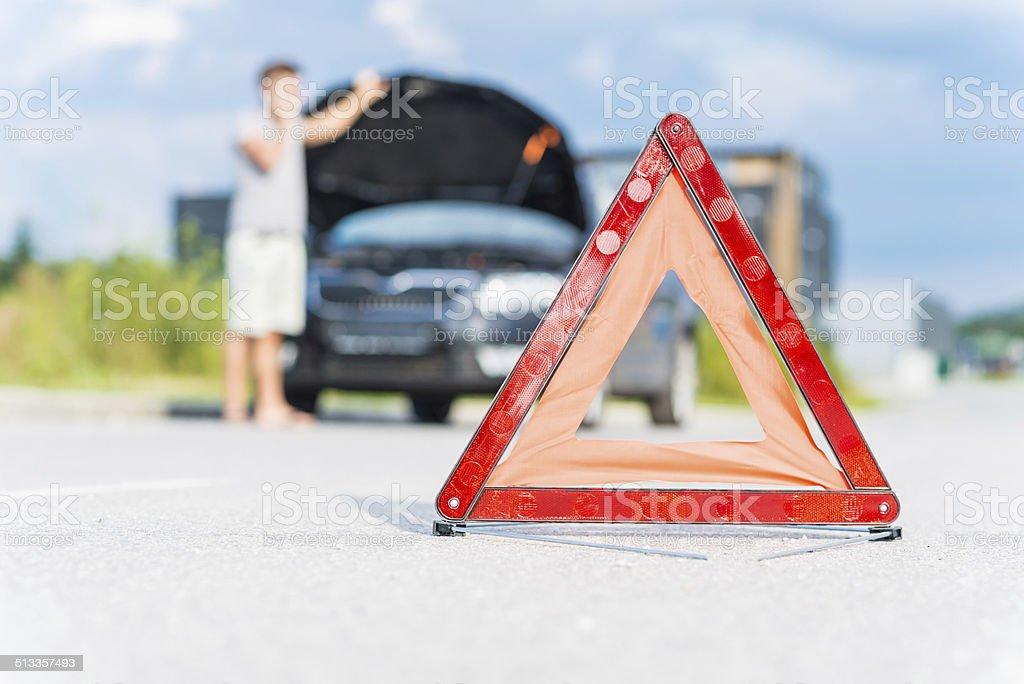 Red warning triangle - Lizenzfrei Abwarten Stock-Foto