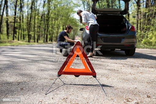 istock Red warning triangle 666624194
