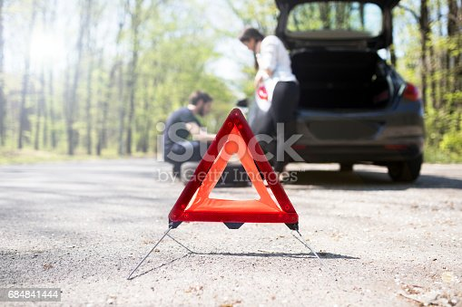istock Red warning triangle 684841444