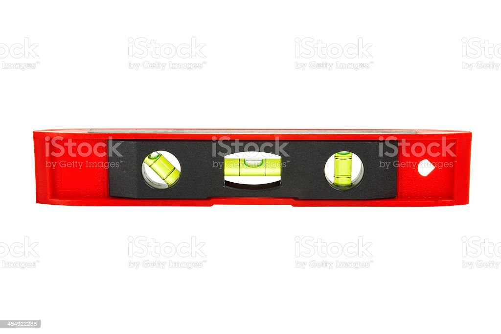 red water level with three plain levels stock photo