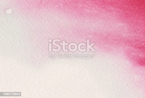 istock Red watercolor background 1083125844