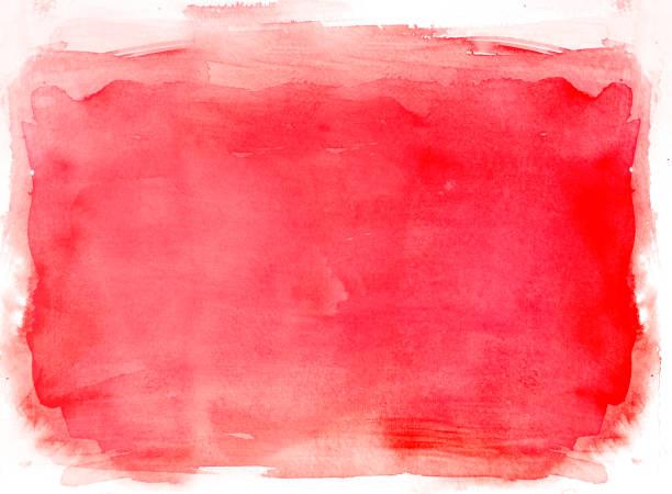 fond aquarelle rouge - aquarelle sur papier photos et images de collection