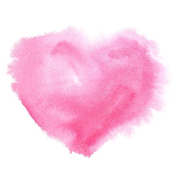 Rot Aquarell heart – Foto