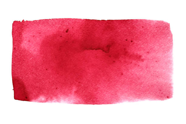 Red watercolor rectangle stock photo