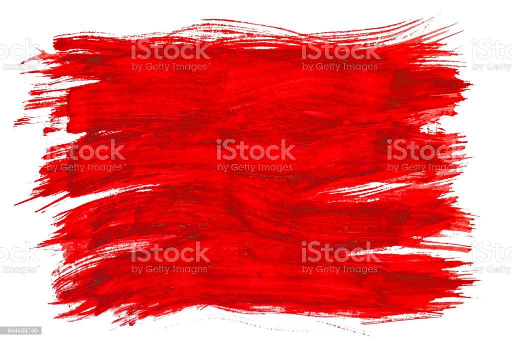 Photo Libre De Droit De Trace De Pinceau Rouge Texture Aquarelle Peinture Tache Isole Sur Fond Blanc Banque D Images Et Plus D Images Libres De Droit De Abstrait Istock