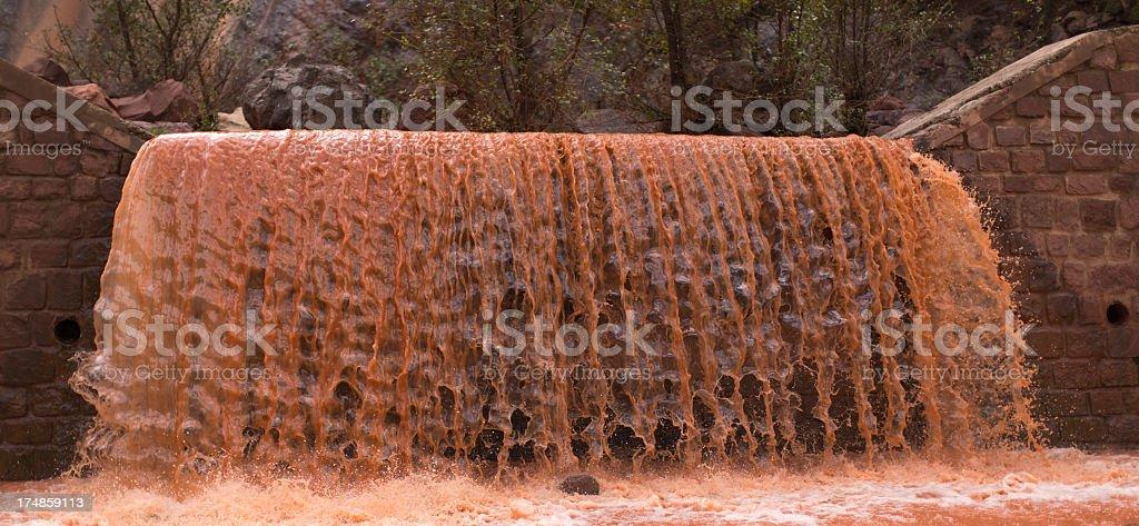 Red Waterfall stock photo