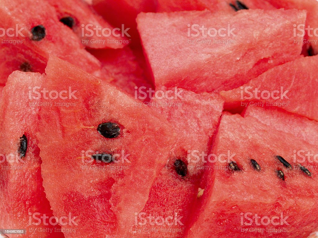 red watermelon slice on dish royalty-free stock photo