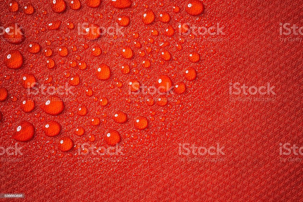 Red waterproof fabric stock photo