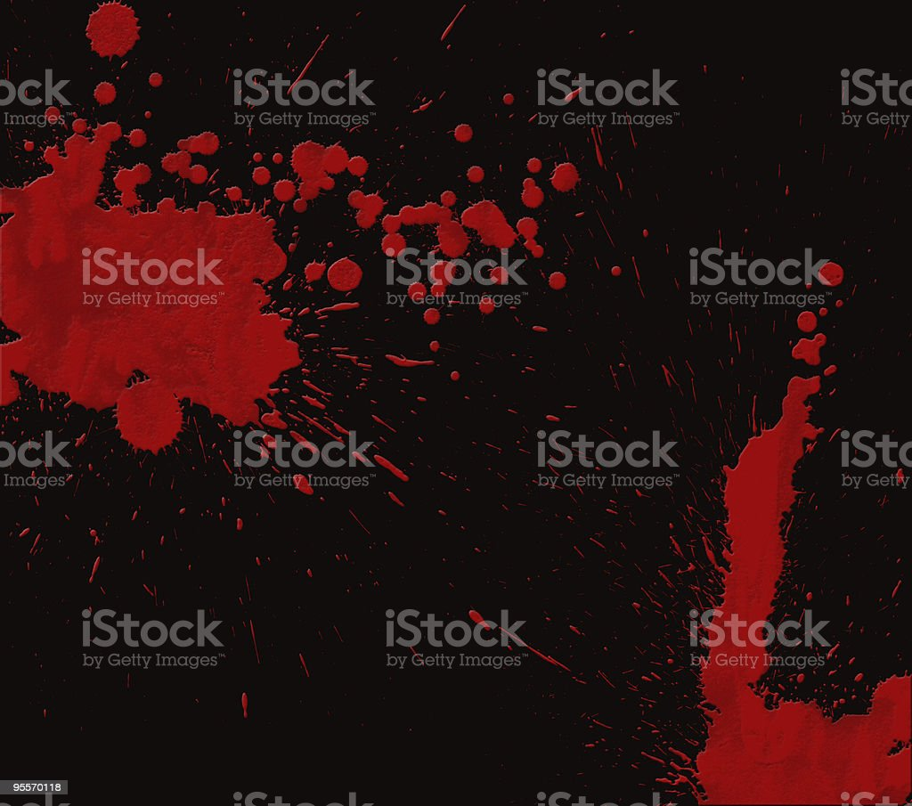 Red Wax on Black stock photo