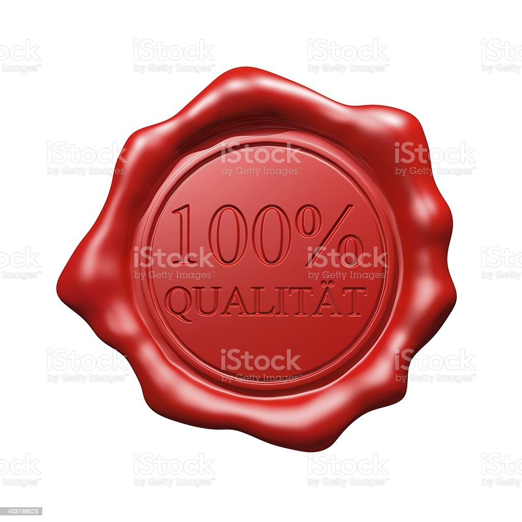 Red Wax Seal - 100% Qualität royalty-free stock photo