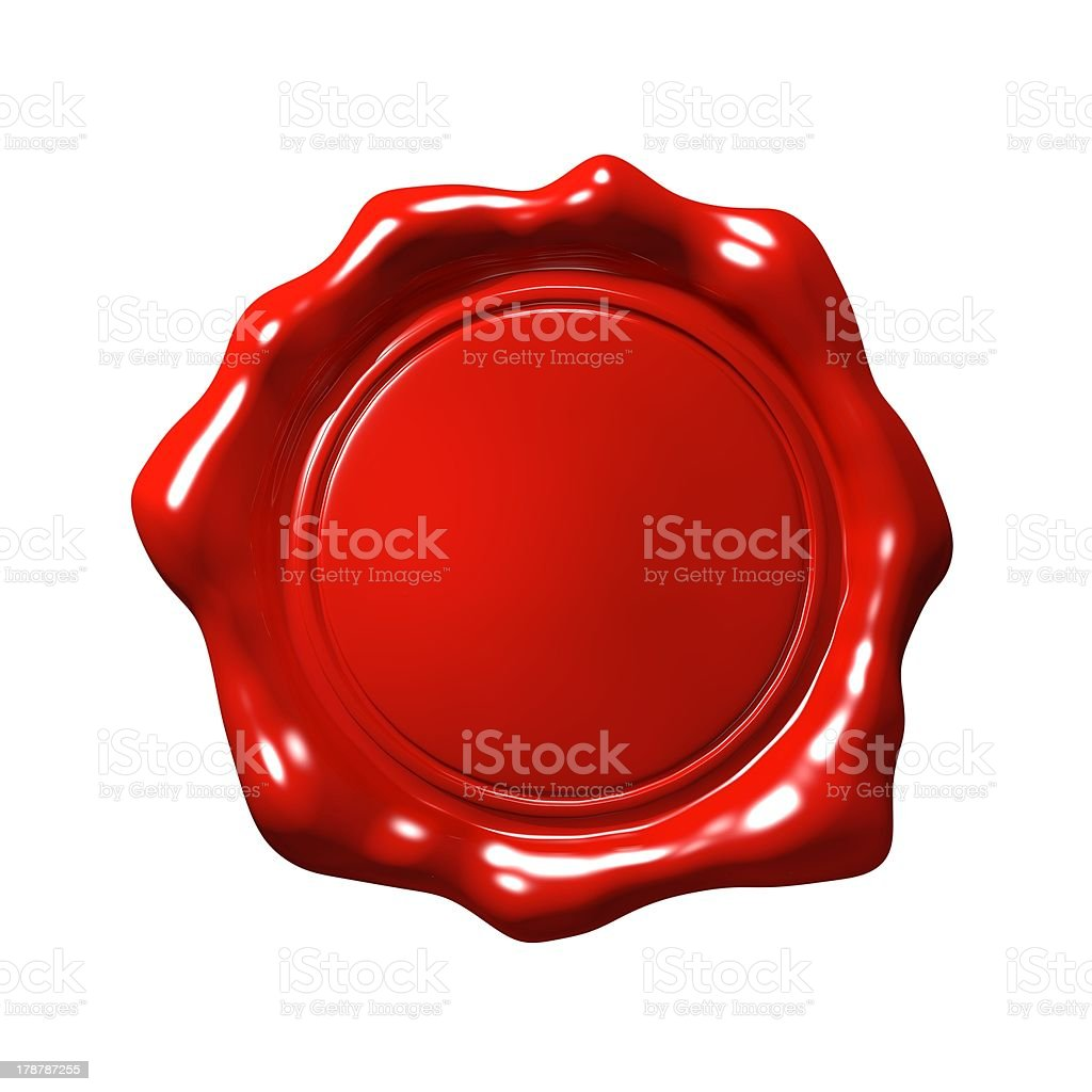 Red Wax Seal 4 - Isolated stock photo