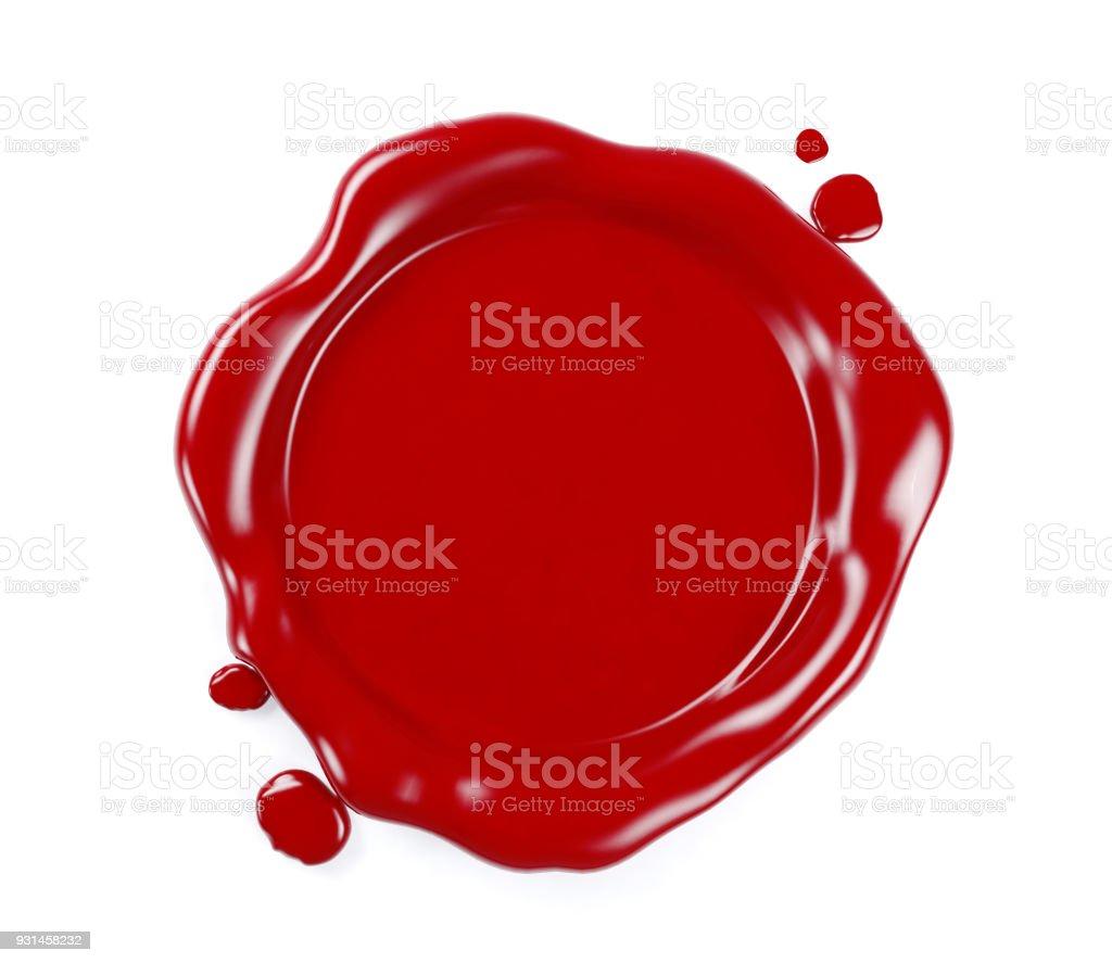 Rotes Wachs versiegeln isolierten auf weißen Hintergrund – Foto