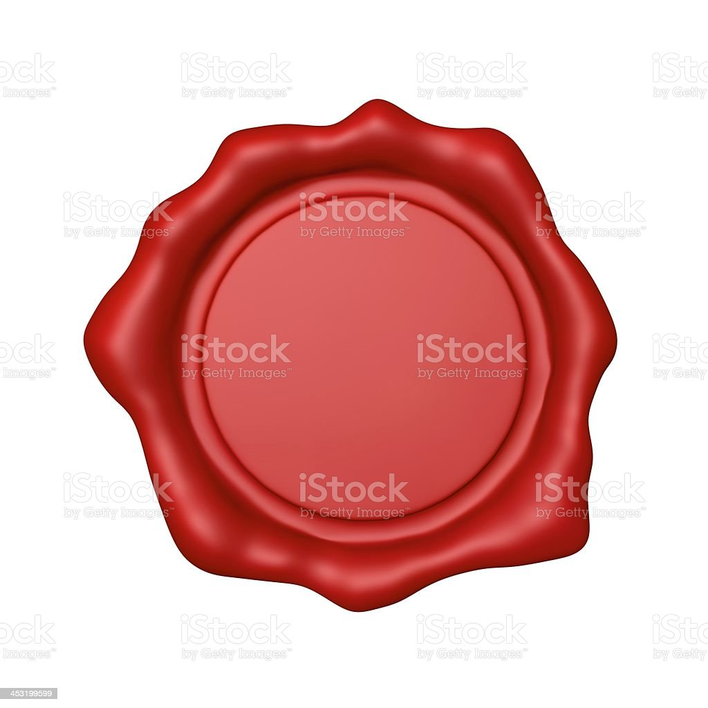 Red Wax Seal - Isolated stock photo