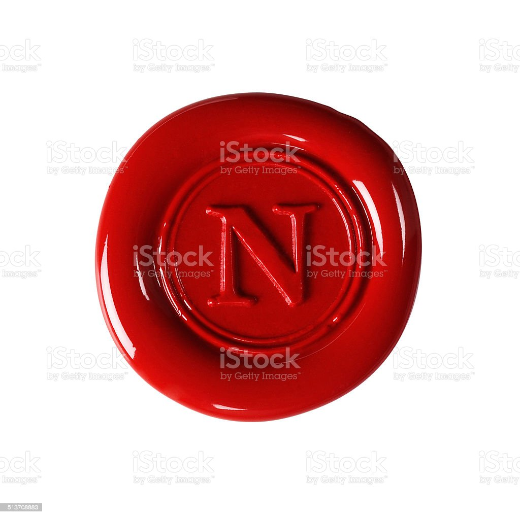 red wax seal stock photo